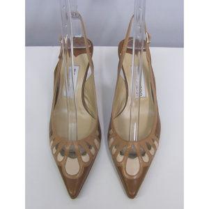 Jimmy Choo Tan Slingback Shoes SZ 36 1/2